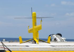 Flexrotor stands ready on the heli-deck